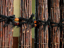 Wattle fence. A detail of a wattle fence,from a Japanese garden Royalty Free Stock Image