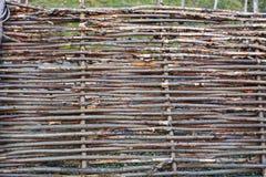 Wattle fence Stock Image