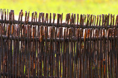 Wattle fence from a rod. Stock Photography