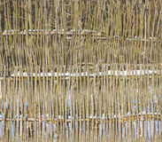 Wattle fence wood background Stock Photos