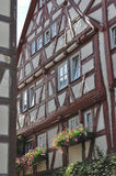Wattle house, bad wimpfen. Facade of old wattle house in city center Royalty Free Stock Photography
