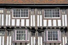 Wattle- och kluddbyggnad, Cambridge, England Royaltyfri Foto