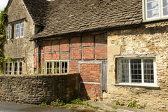 Wattle and stone cottages , Lacock Stock Photos