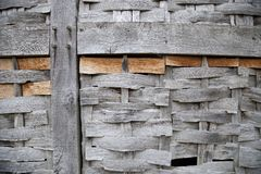 Wattle and timber-framed building panel, England Royalty Free Stock Photos