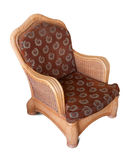 Wattled armchair. Isolated over white Royalty Free Stock Photography