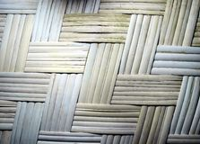 Wattled bamboo mat. Stock Photos