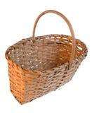 Wattled basket. On white background Stock Photography