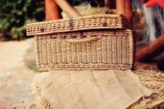 Wattled basket Royalty Free Stock Image