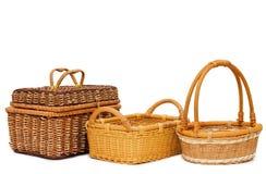 Wattled basket isolated Stock Photo