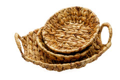 Wattled basket isolated on a white Stock Images