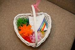 Wattled basket. Royalty Free Stock Photos