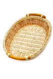 Wattled basket  on a white Stock Images