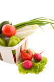 Wattled Basket With Vegetable Royalty Free Stock Photography