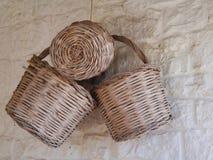 Wattled baskets Stock Image