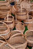 Wattled baskets at fair of national creativity Stock Photos