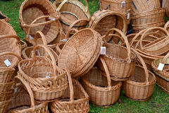Wattled baskets at fair of national creativity Stock Photography