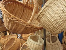 Wattled baskets Royalty Free Stock Photography
