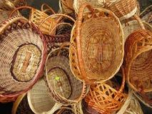 Wattled baskets Stock Photography