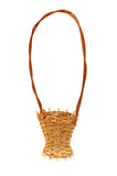 Wattled decorative basket on white. Wattled decorative basket it is isolated on the white Stock Images