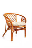 Wattled furniture. Structure of weaving of furniture close up on a white background Stock Photos