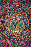 Wattled pattern from the coloured  threads Royalty Free Stock Image
