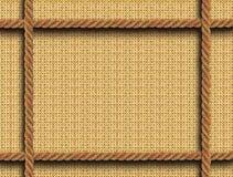 Wattled ram med rep vektor illustrationer
