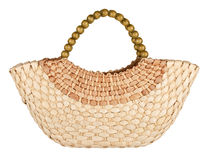 Wattled straw bag Royalty Free Stock Image