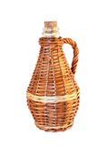 Wattled wicker bottle Stock Image