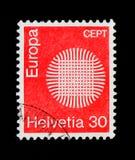 Wattling, welches die Sonne, Europa C symbolisiert e P T 1970 - Flammen Sun serie, circa 1970 Stockfotos