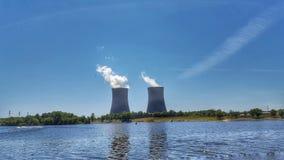 Watts do central nuclear da barra fotos de stock royalty free