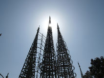 Watts Tower Park Stock Photo