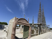Watts towers in Los Angeles, California stock photos
