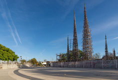 Watts Towers in South Los Angeles stock photography