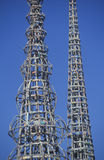 Watts Towers 20th Anniversary of the 1965 riots, Los Angeles, California royalty free stock photos