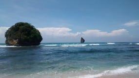 Watu leter beach Royalty Free Stock Image