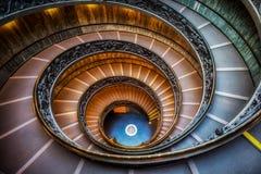 Watykańscy Muzealni schodki zdjęcia stock