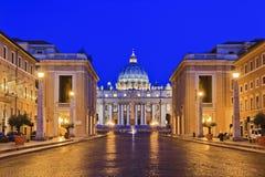 Watykańska bazylika 03 wzrosta zdjęcie royalty free