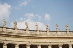 Watykańska Bernini kolumnada w Rzym obrazy royalty free