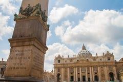 Watykańska kopuła Rzym Włochy Obrazy Stock