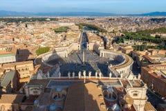Watykańska kopuła Rzym Włochy obrazy royalty free