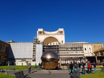 Watykańska złota piłka Obraz Stock