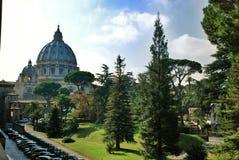 Watykański jard Rzym, Włochy - - St Peters bazylika - Obraz Royalty Free