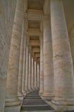 Watykański kolumnada szczegół fotografia royalty free
