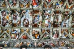 Watykański Muzealny sufit zdjęcie royalty free