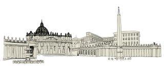 Watykański nakreślenie ilustracja wektor