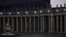 Watykański noc kwadrat zbiory wideo