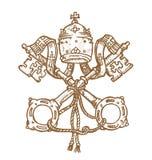 Watykański symbol royalty ilustracja