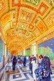 WATYKAN, WATYKAN MAY 09, 2017: Wśrodku Watykańskiego muzeum, Zdjęcie Stock