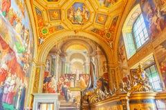 WATYKAN, WATYKAN MAY 09, 2017: Wśrodku Watykańskiego muzeum, Fotografia Stock
