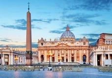 Watykan, Rzym St Peters bazylika zdjęcie royalty free